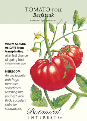 Beefsteak Pole Tomato - 30 Seeds - Certified Organic