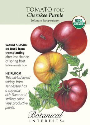 Cherokee Purple Pole Tomato Seeds - 30 Seeds - Organic