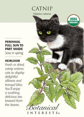 Catnip Seeds - 500 mg - Nepeta - Certified Organic