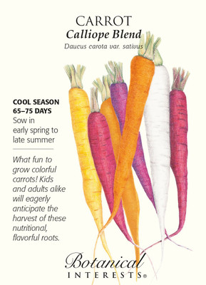 Calliope Blend Carrot Seeds - 800 Mg - Botanical Interests