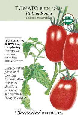 Italian Roma Tomato Seeds - .20 grams - Organic