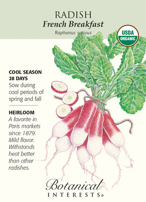 French Breakfast Radish Seeds - 5 grams - Organic