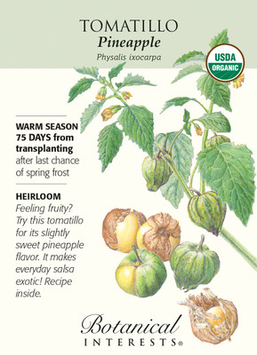 Organic Pineapple Tomatillo Seeds - 250 mg