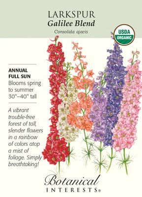 Organic Galilee Blend Larkspur Seeds - 750 mg