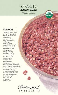 Organic Adzuki Bean Sprouts/Sprouting Seeds - 60 grams