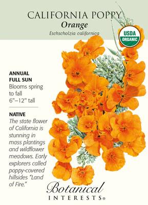 Organic California Orange Poppy Seeds - 2 gram