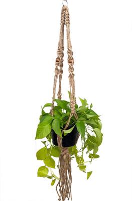 """Natural Jute Macrame Plant Hanger - 55"""" Length - Holds 8-12"""" Pot Size -Model 32S"""