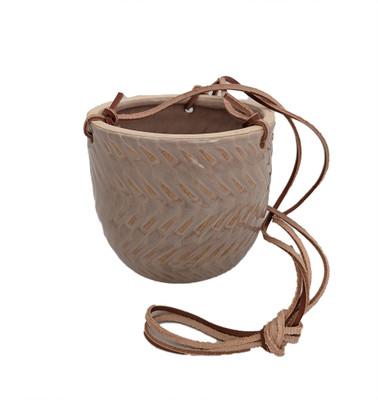 """Hanging Ceramic Egg Pot - Cream - 4.75"""" x 4.5"""""""