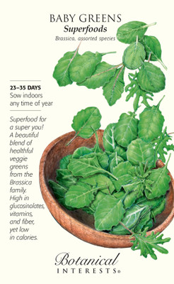 Superfoods Baby Greens Seeds - 12 grams - Brassica