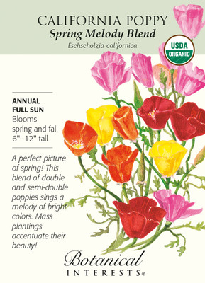 Organic Spring Melody Blend California Poppy Seeds - 700 mg