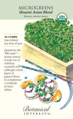 Organic Umami Asian Blend Microgreens Seeds - 12 grams