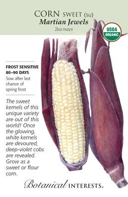 Organic Sweet Martian Jewels Corn Seeds - 9 Grams