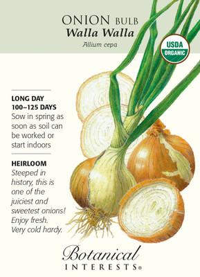 Organic Walla Walla Onion Seeds - 500 mg