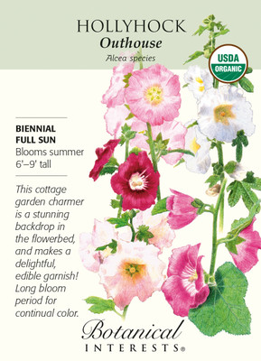 Organic Outhouse Hollyhock Seeds - 300 Milligrams