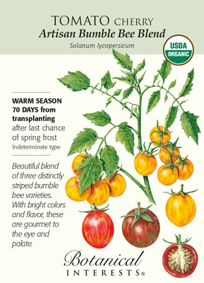 Organic Artisan Bumble Bee Blend Cherry Tomato - 15 Seeds