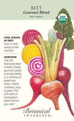 Organic Gourmet Blend Beet Seeds - 7 grams