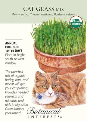 Organic Cat Grass Mix Seeds - 15 grams