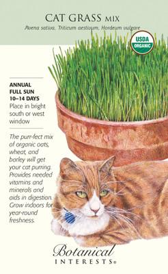 Organic Cat Grass Mix Seeds - 45 Grams - Botanical Interest