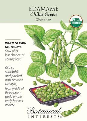 Organic Chiba Green Edamame Seeds - 12 Grams