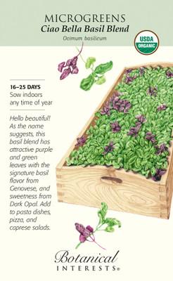 Organic Ciao Bella Basil Bland Microgreen Seeds - 6 grams