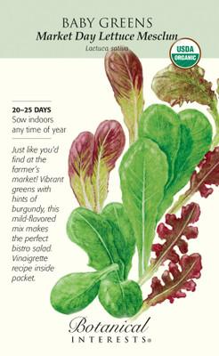 Organic Market Day Lettuce Mesclun Baby Greens Seeds - 6 grams