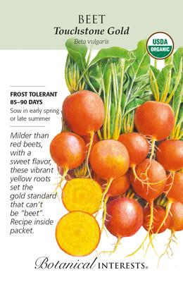 Organic - Touchstone Gold Beet Seeds - 1 Gram