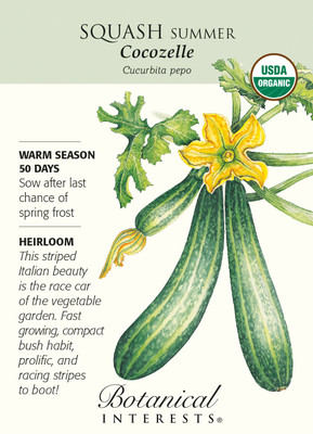 Cocozelle Summer Squash Seeds - 2 grams - Organic
