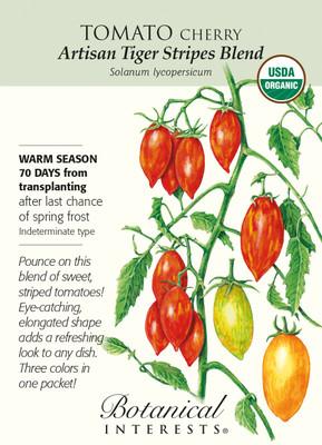 Organic Artisan Tiger Stripes Blend Cherry Tomato - 15 Seeds