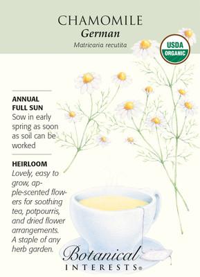 German Chamomile Seeds - 250 mg - Certified Organic