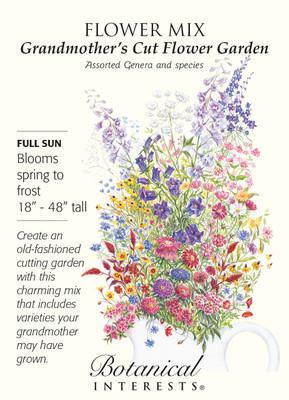 Grandmother's Cut Flower Garden Seed Mix - 3 grams