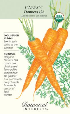Organic Danvers 126 Carrot Seeds - 3 grams