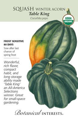 Organic Table King Acorn Winter Squash Seeds - 2 Grams