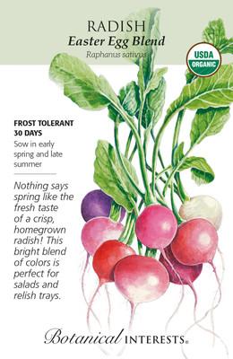 Organic Easter Egg Blend Radish Seeds - 2 Grams