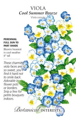 Cool Summer Breeze Viola Seeds - 200 Mg