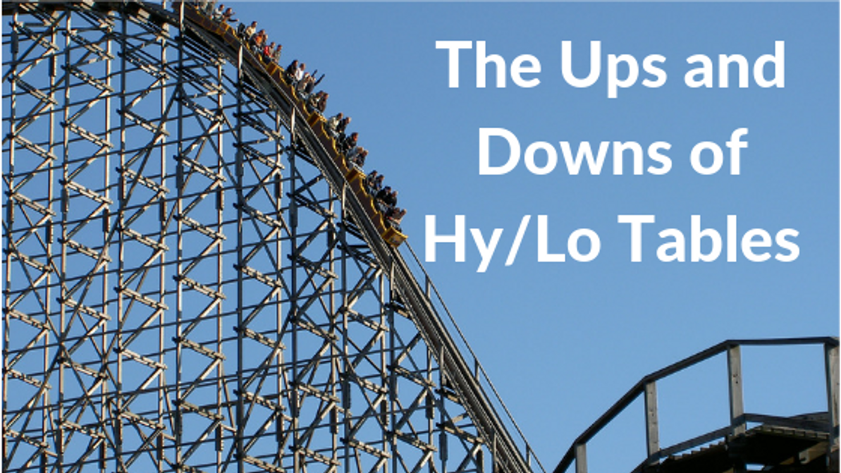 The Ups and Downs Of Elevation And Hy/Lo Adjusting Tables