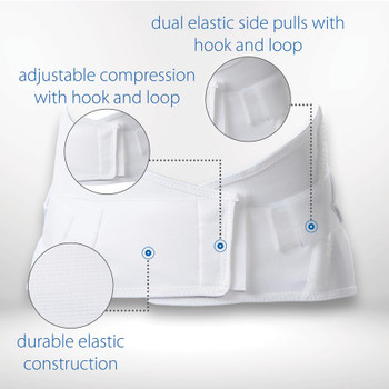 New Core Dual Pull Elastic Crisscross Back Support- Size Small