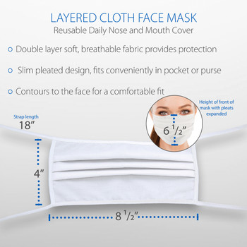 50 Pack New Core Layered Cloth Face Mask