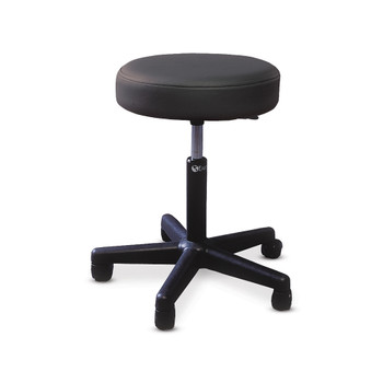 PNEUMATIC STOOL WITH PADDED SEAT/TWIN-WHEEL SWIVEL CASTERS