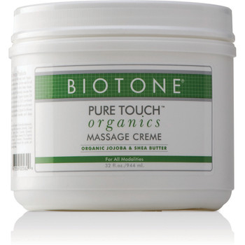 PURE TOUCH ORGANICS MASSAGE CREME 32 OUNCE