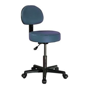 "SWIVEL STOOL WITH A BACK, ADJUSTABLE HEIGHT 18""-25"""
