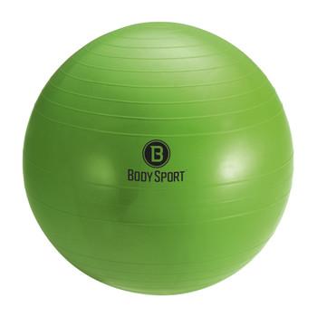 """BODY SPORT 55 CM (BODY HEIGHT 5'1"""" - 5'6"""") ANTI-BURST FITNESS BALL (EXERCISE BALL), GREEN"""