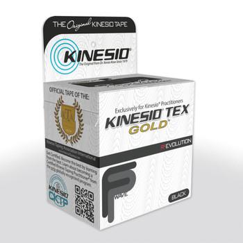"""KINESIO TAPE TEX GOLD FP, 2"""" X 16.4', BLACK"""
