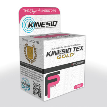 """KINESIO TAPE TEX GOLD FP, 2"""" X 16.4', RED"""