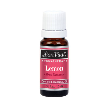 BON VITAL ESSENTIAL OIL, LEMON, 10 ML .35 FLUID OZ BOTTLE