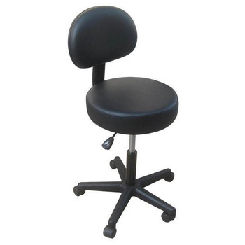 New Pneumatic Stool with Removable Chairback - BLACK ONLY