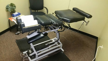 Used Lloyd 402 elevation flexion with drops pelvic  table elevated chiropractic table
