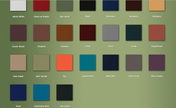 New Dura Comfort Contour Table color chart