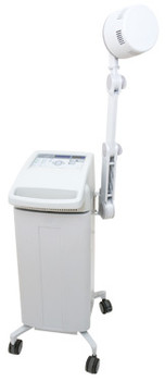 The Auto*Therm 390x is a continuous and pulsed shortwave diathermy. This unit can be easily moved between treatment rooms or to the patient. The 390 utilizes rubber plate capacitive electrodes as well as a coil induction drum. Capacitive electrodes are ideal for treating shallow areas and are ideal for covering a large treatment area like a leg when treating the Sciatic Nerve. The coil induction drum is designed for deep penetration. The Auto*Therm® 390x comes with an arm, inductive coil applicator, capacitive electrodes and heavy-duty cart with ample storage space.