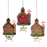 Enesco Barn with Animal Country Living Department 56 Hanging Ornament 6007880
