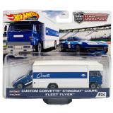 Hot Wheels Custom Corvette Stingray Coupe Team Transport with Fleet Flyer Hot Wheels Series #24